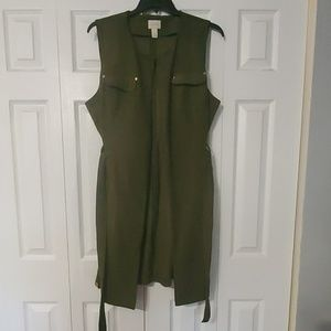 Chico's Green Sleeveless Cardigan/Duster. Sz. XL
